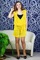 Молодежный комбинезон с шортами большого размера