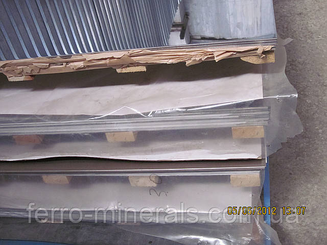 Нержавеющий лист 1,5х1250х2500мм, AISI 304 (08X18H10), 2В+РI