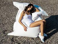 Белое кресло мешок подушка 120*140 см из кож зама, кресло-мат