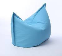 Кресло мешок подушка серое 120*140 см из кож зама, кресло-мат