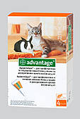 Средство от блох Адвантейж №40 для кошек до 4 кг, 4 пипетки