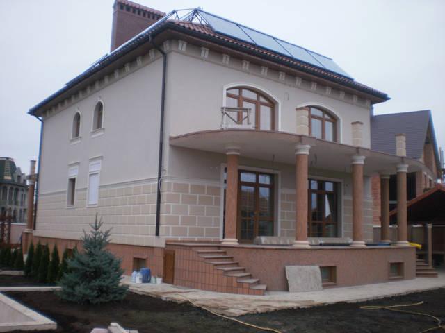 Облицовка и покраска дома по ул. Кораловая 6