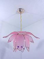 Люстра потолочная подвесная на 1 лампочку (30х35х35 см.) Золото YR-8600/1-pink