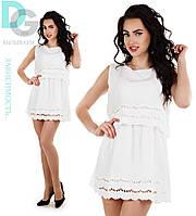 Платье летнее белое 061 гл $