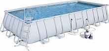 Каркасный бассейн Bestway 56279 (7.3x3.7x1.3 м, песочный фильтр)