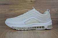 Кроссовки женские Nike Air Max 97 в стиле Найк Аир Макс, натуральная кожа,текстиль код OD-2736.Белые с молоком