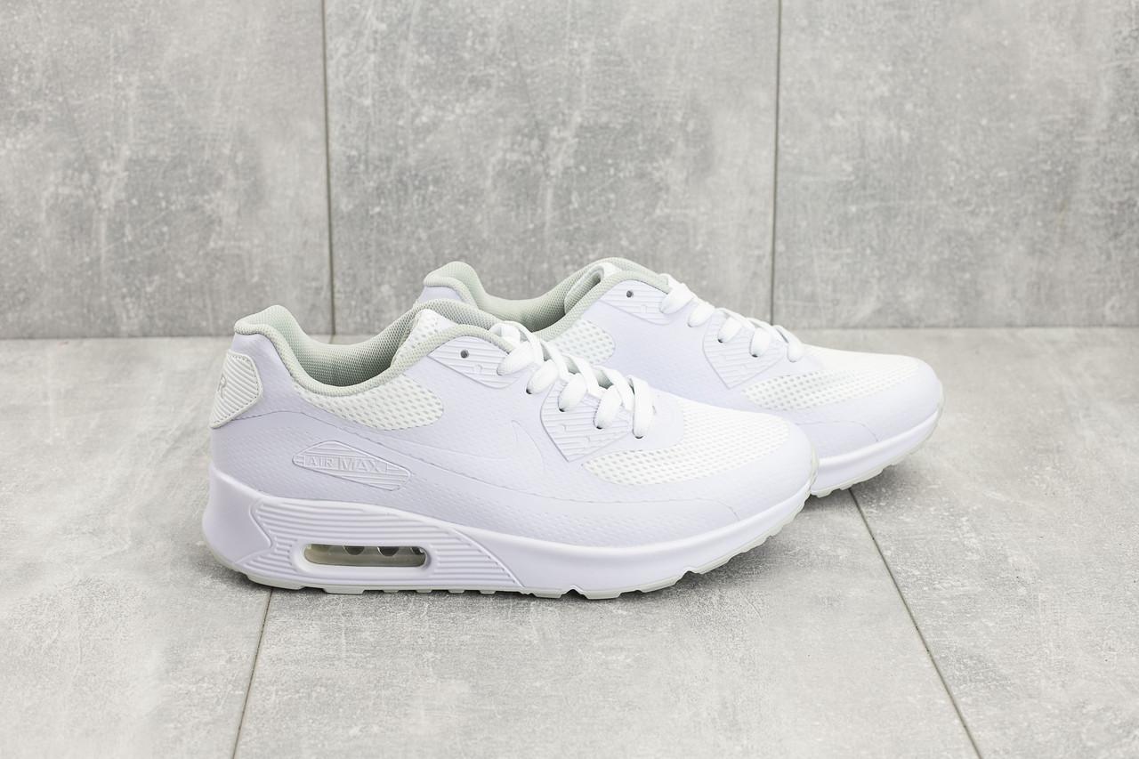 94e7fa0b Белые. Кроссовки мужские Nike Air Max в стиле Найк Аир Макс, натуральная  кожа,текстиль код