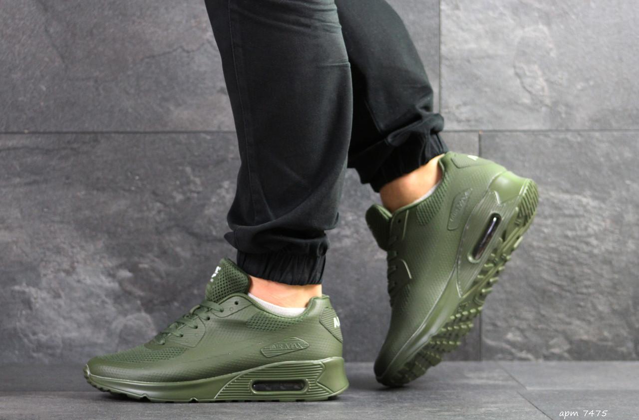 c4b130f2 Зеленые. Кроссовки мужские Nike Air Max Hyperfuse в стиле Найк Гиперфус,  натуральная кожа, текстиль код