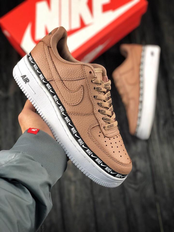 756cb452 Кроссовки женские Nike Air Force в стиле Найк Аир Форс, натуральная кожа,  текстиль код