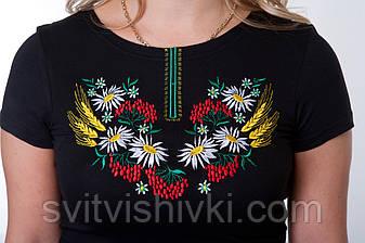 """Вышитая футболка женская""""Мак-Колосок"""", фото 2"""