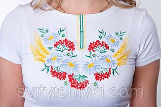 """Вышитая футболка женская""""Мак-Колосок"""", фото 3"""