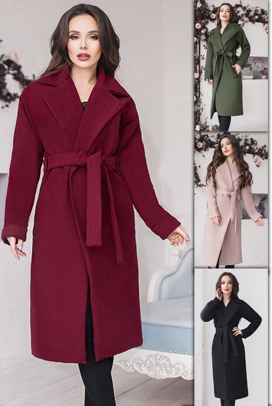 Модное женское пальто большого размера и норма (42-70)