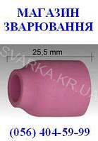 Керамическое сопло № 6 L=25.5 мм NW 9.5 мм под диффузор ABITIG / SRT 9 / 20