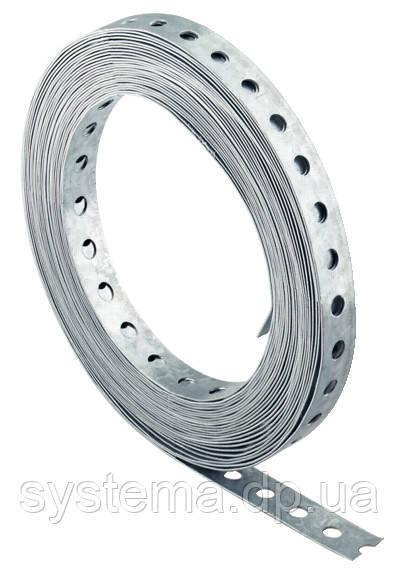 Fischer LBV17 - Перфорированная стальная лента для крепления трубопроводов (перфолента) 17х0,75 мм, 10 метров