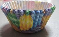 Форма бумажная для выпечки маффинов, кексов, капкейков  Воздушные шары