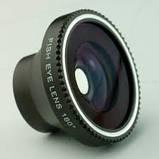 Универсальные объективы 3 в 1 Fisheye для телефона на магните Черный, Розничная коробка, фото 2