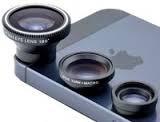Универсальные объективы 3 в 1 Fisheye для телефона на магните Черный, Розничная коробка