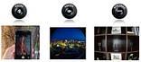 Универсальные объективы 3 в 1 Fisheye для телефона на магните Черный, Розничная коробка, фото 3