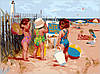 Картина по номерам MENGLEI Дети на море