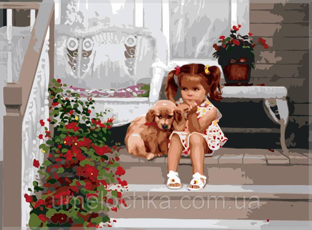 Набор для рисования Идейка Девочка с собакой Код КН1024