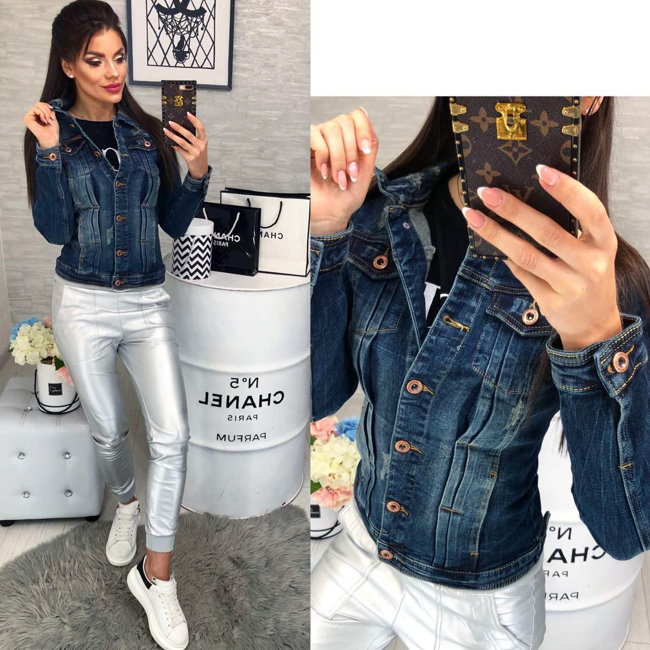Куртка джинсовая женская весенняя котоновая (1013 Dimoni)