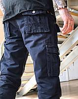 Джинсы карго карманы мужские (синие Iteno), фото 1