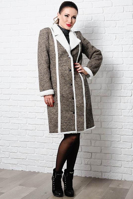 Пальто жіноче на овчині