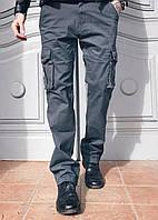 Джинсы карго карманы мужские (серые Iteno), фото 1