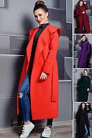 Длинное пальто большого размера и норма с капюшоном (42-70)