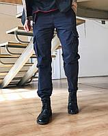 Джинсы карго карманы мужские батал ( №8 синие Iteno ), фото 1