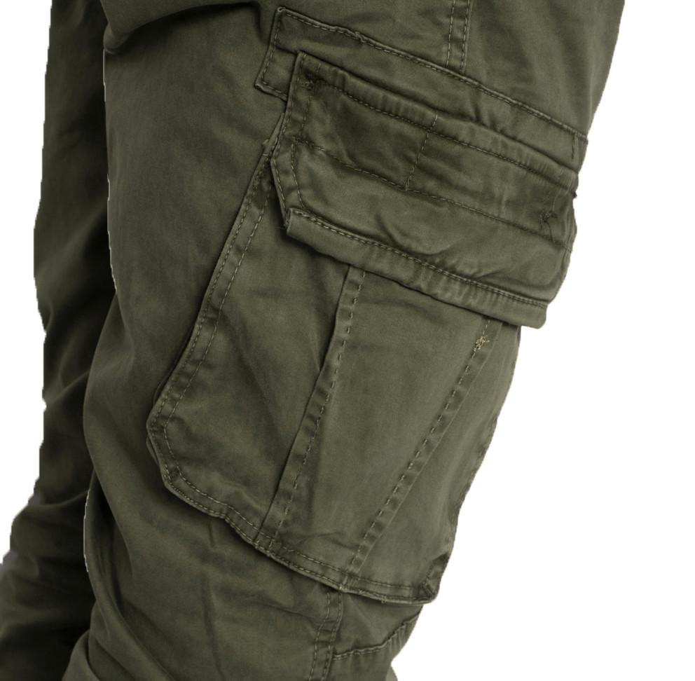 Джоггеры хаки с боковыми карманами (8905-4 Iteno)