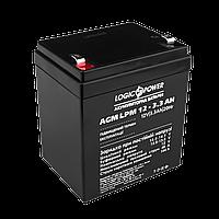 Аккумулятор кислотный AGM LogicPower LPM 12 - 3,3 AH, фото 1