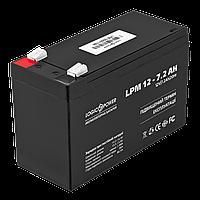 Аккумулятор кислотный AGM LogicPower LPM 12 - 7,2 AH, фото 1