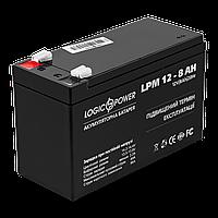 Аккумулятор кислотный AGM LogicPower LPM 12 - 8,0 AH, фото 1