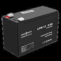Аккумулятор кислотный AGM LogicPower LPM 12 - 9,0 AH, фото 1