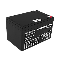 Аккумулятор кислотный AGM LogicPower LPM 12 - 12 AH, фото 1