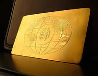 Vip визитки и бейджи из металла