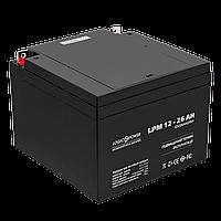 Аккумулятор кислотный AGM LogicPower LPM 12 - 26 AH, фото 1