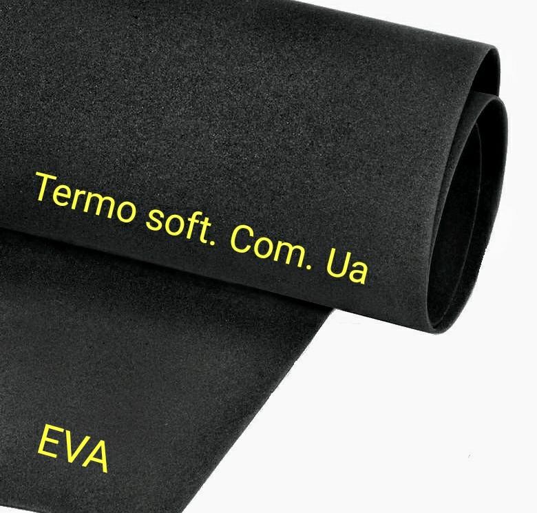 Цветные листы EVA 3075 (вспененный этиленвинилацетат, ЭВА, фоамиран, фоам) цветной, листовой 2мм.ЧЕРНЫЙ.