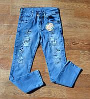Модные джинсы на девочку 8-9 лет