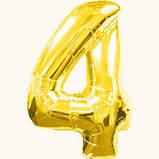 Шар фольгированный Цифра от 0 до 9 Золотистая, фото 4