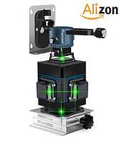 Лазерный уровень 4D (3D + одна плоскость) Xeast зелёные лучи с пультом, фото 1
