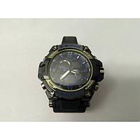 Кварцевые спортивные Наручные Часы G-Shock 2 protection Чёрно-синие