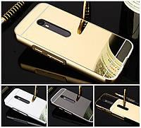 Чехол бампер для Motorola Moto G4 / G4 Plus XT1642 зеркальный