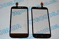 Оригинальный тачскрин / сенсор (сенсорное стекло) для FLY IQ4404 Spark (черный цвет, самоклейка)