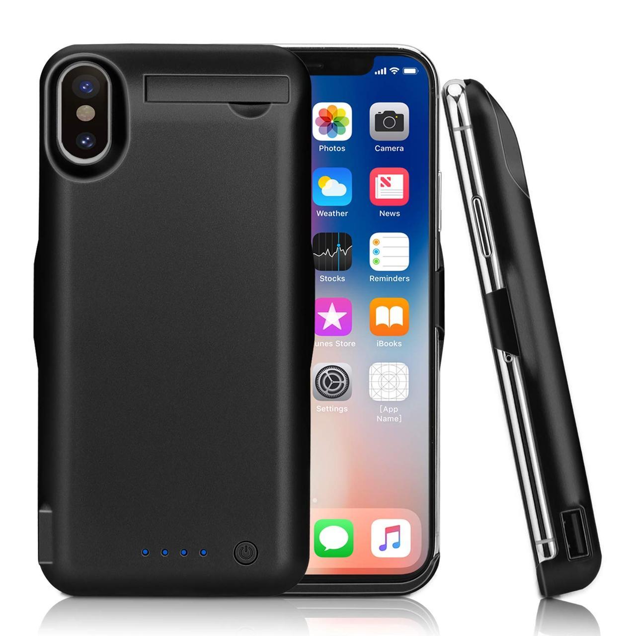 Чехол-зарядное устройство Epuirie 10000mAh  для iPhone X (5,8 дюйма) черный