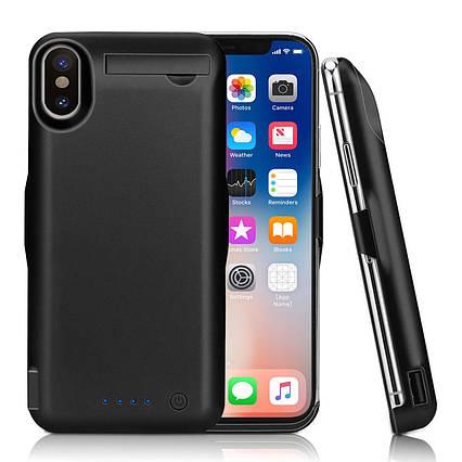 Чохол-зарядний пристрій Epuirie 10000mAh для iPhone X (5,8 дюйма) чорний, фото 2