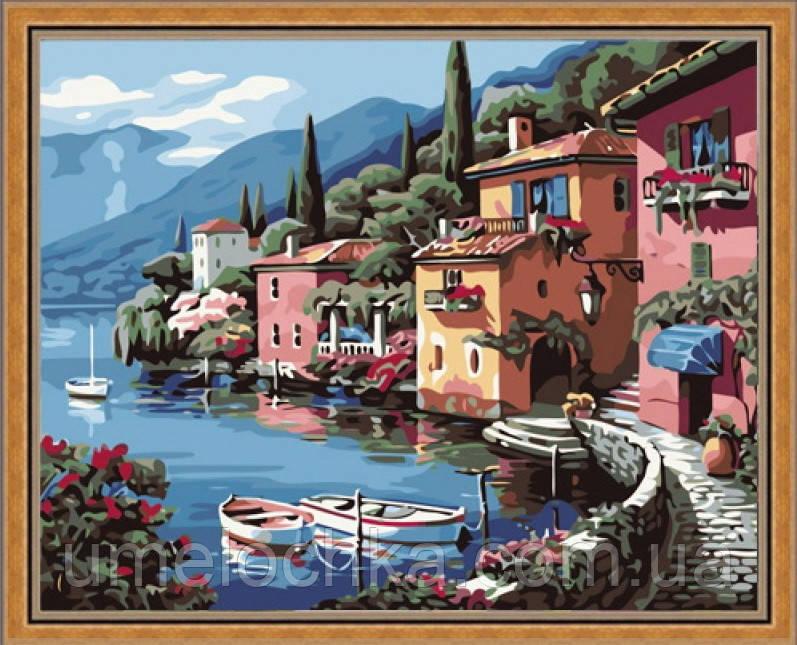 Картина по номерам на холсте Идейка Итальянская набережная KH103