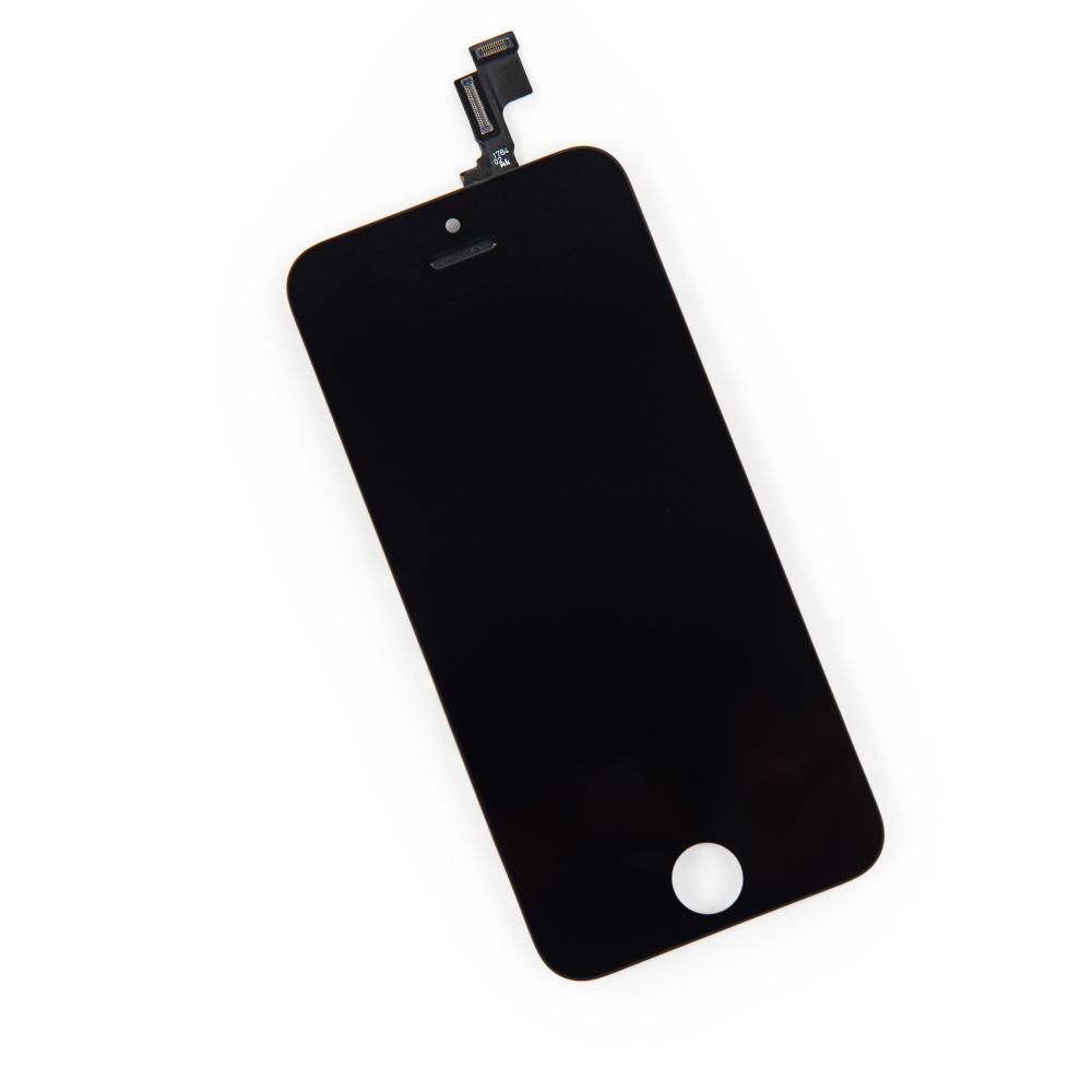 Дисплей iPhone 5S, SE + сенсор чёрный(переклейка)