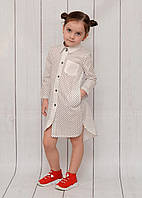 """Платье-рубашка на девочку (116-140 см) """"Style Kids"""" LM-779"""